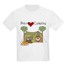Boys Love Camping T-Shirt