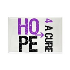HopeCure PancreaticCancer Rectangle Magnet