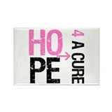 Hope Cure Breast Cancer Rectangle Magnet