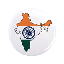 "India Flag Map 3.5"" Button"