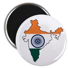 India Flag Map Magnet