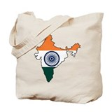 India Flag Map Tote Bag