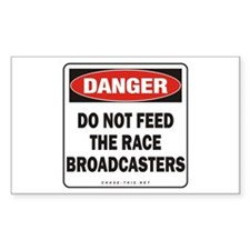 Broadcasters Rectangle Sticker 50 pk)