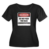 Commentators Women's Plus Size Scoop Neck Dark Tee