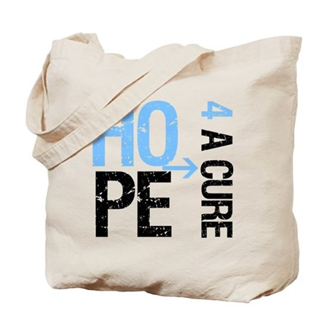 Hope Cure Prostate Cancer Tote Bag