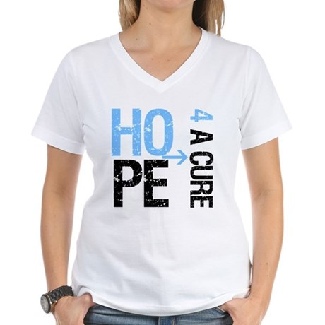 Hope Cure Prostate Cancer Women's V-Neck T-Shirt