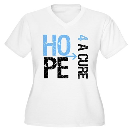 Hope Cure Prostate Cancer Women's Plus Size V-Neck