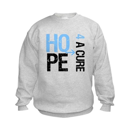 Hope Cure Prostate Cancer Kids Sweatshirt
