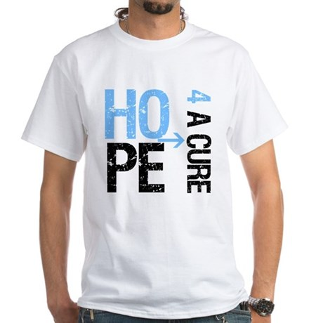 Hope Cure Prostate Cancer White T-Shirt