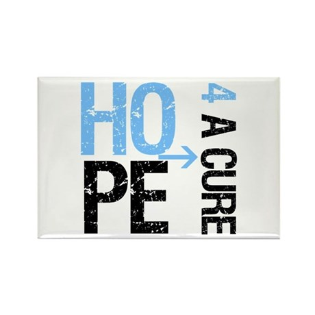 Hope Cure Prostate Cancer Rectangle Magnet (100 pa