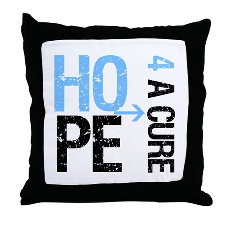 Hope Cure Prostate Cancer Throw Pillow