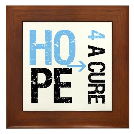 Hope Cure Prostate Cancer Framed Tile