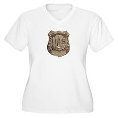 Lighthouse Police Women's Plus Size V-Neck T-Shirt