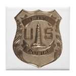 Lighthouse Police Tile Coaster