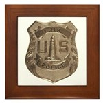 Lighthouse Police Framed Tile