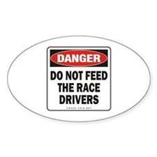 Race Drivers Oval Decal