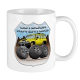 Yellow Hummer H3 Small Mug