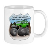 Green Hummer H3 Coffee Mug