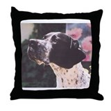 Pointer as Loyal Friend Throw Pillow