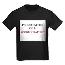 Proud Father Of A ZOOGEOGRAPHIST Kids Dark T-Shirt