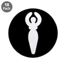 """Goddess 3.5"""" Button (10 pack)"""