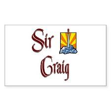 Sir Craig Rectangle Decal