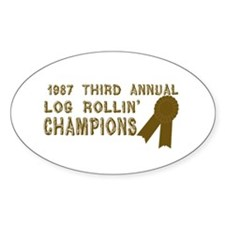 Log Rolling Champions Oval Decal