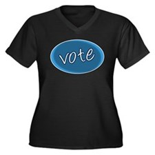 Vote for the Best - Women's Plus Size V-Neck Dark
