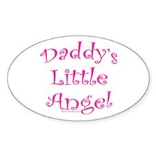 Daddy's Little Angel Oval Sticker (10 pk)