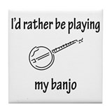 Banjo Tile Coaster