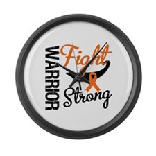 Leukemia Warrior Fight Large Wall Clock