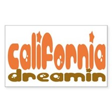 California Dreamin' Rectangle Decal