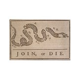 Unique Join or die Rectangle Magnet