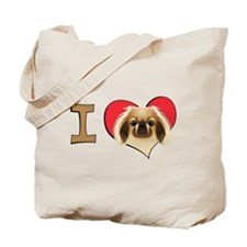 I heart pekingese Tote Bag