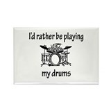 Playing My Drums Rectangle Magnet (100 pack)