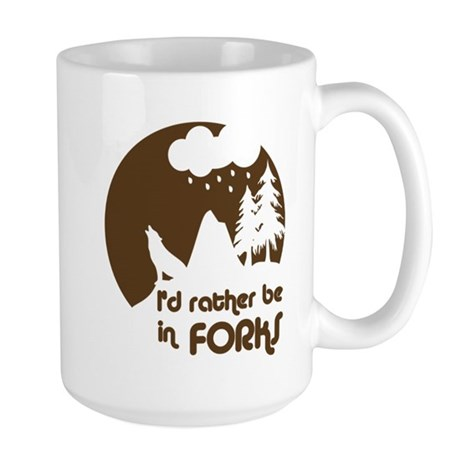 I'd rather be in Forks Large Mug