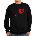 Bullet Hole Heart Sweatshirt (dark)