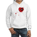 Bullet Hole Heart Hooded Sweatshirt