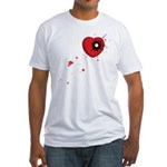 Bullet Hole Heart Fitted T-Shirt