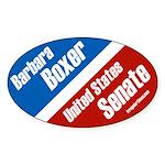 Oval Barbara Boxer Bumper Sticker