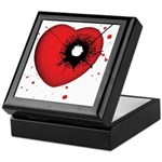 Bullet Hole Heart Keepsake Box