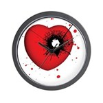 Bullet Hole Heart Wall Clock