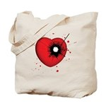 Bullet Hole Heart Tote Bag