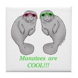 Cool Manatee Tile Coaster