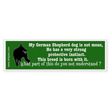 Protective Instinct - GSD - Bumper Car Sticker