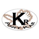 Port Kar car Oval Decal