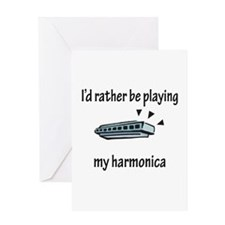Playing My Harmonica Greeting Card