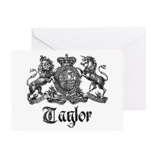 Taylor Vintage Crest Family Name Greeting Card