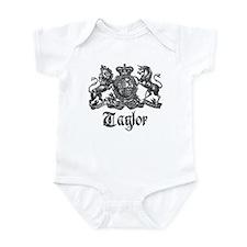 Taylor Vintage Crest Family Name Infant Bodysuit