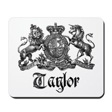 Taylor Vintage Crest Family Name Mousepad